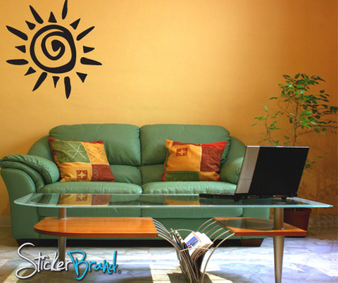 Vinyl Wall Decal Sticker Tribal Sun #788