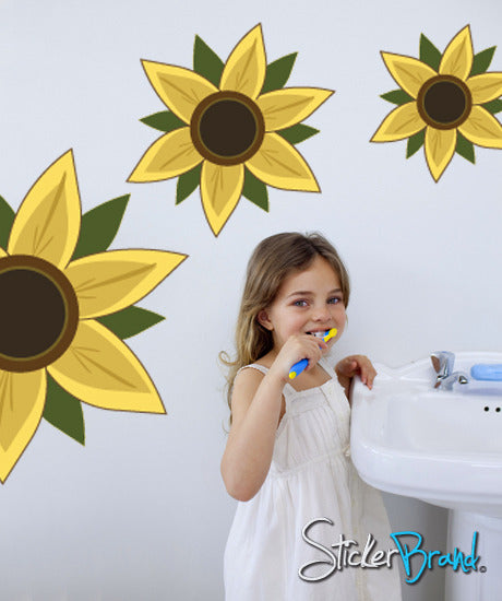 Graphics Wall Decal Sticker Sun Flower #CBenson106