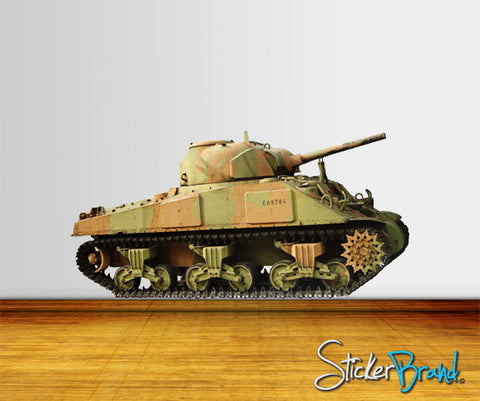Graphic Wall Decal Sticker Military Tank #JH124