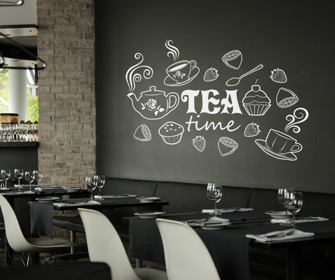 Vinyl Wall Decal Sticker Tea Time #OS_ES116