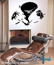 Vinyl Wall Decal Sticker Tornado #GFoster118