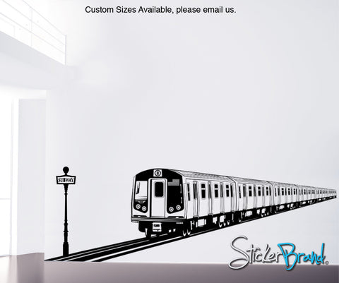 NYC Subway Train Wall Decal. Urban Theme Wall Decor. #OS_ES107