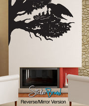 Vinyl Wall Decal Sticker Tree Bird nest  #GFoster154