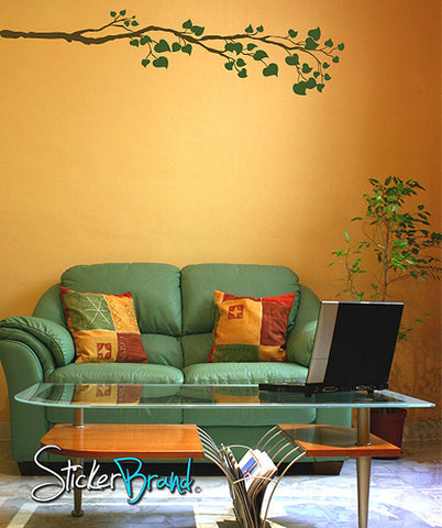 Vinyl Wall Decal Sticker Tree leaves Branch #834