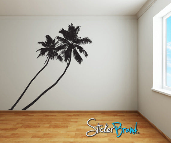 vinyl wall decal sticker tropical palm trees 800. Black Bedroom Furniture Sets. Home Design Ideas