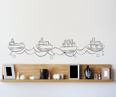 Vinyl Wall Decal Sticker Tug Boat #OS_MG165
