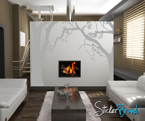 Vinyl Wall Decal Twisted Trees #AC114