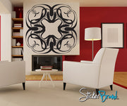 Vinyl Wall Decal Sticker Twisted Triangles Abstract #AC135