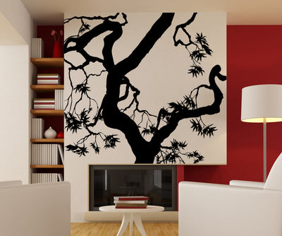 Vinyl Wall Decal Sticker Twisted Maple Tree #AC227