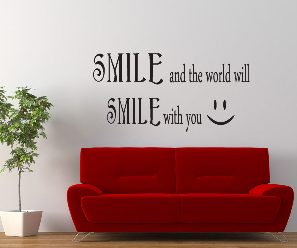 Vinyl Wall Decal Sticker Smile Smile Quote Gfoster183