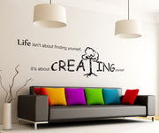 Vinyl Wall Decal Sticker Creating Quote #GFoster180
