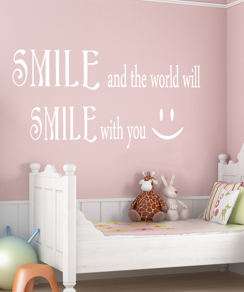 Vinyl Wall Quotes | Vinyl Wall Decal Sticker Smile Smile Quote Gfoster183