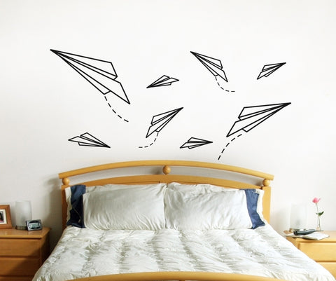 Vinyl Wall Decal Sticker Paper Planes #OS_ES114