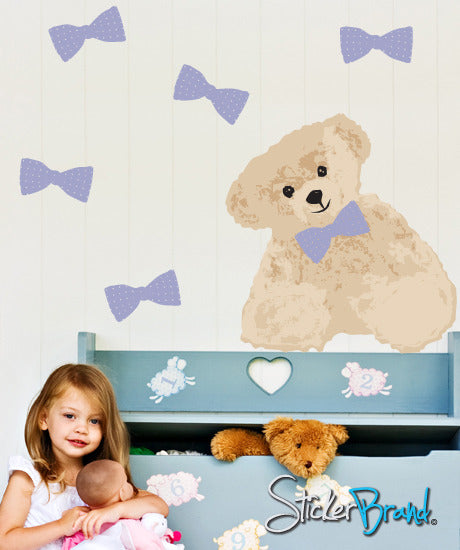 Graphic Wall Decal Sticker Teddy Bear #DCriswell106