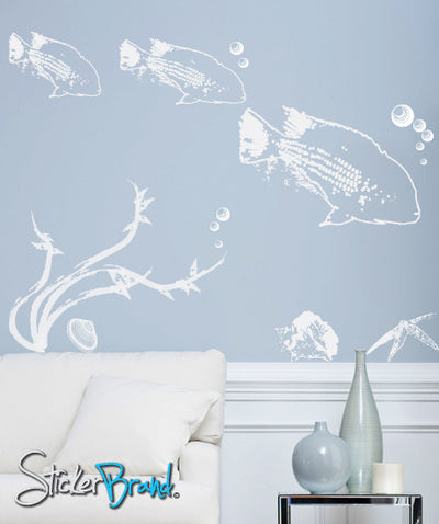 Vinyl Wall Decal Sticker Under the sea #DCriswell107