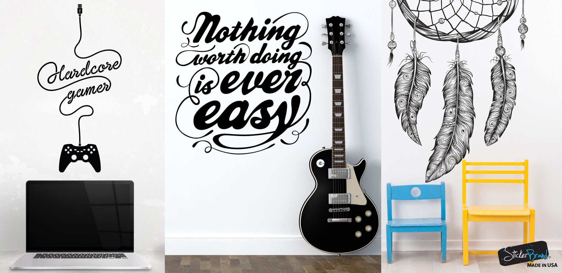 stickerbrand wall decal stickers vinyl wall art decals bedroom decor