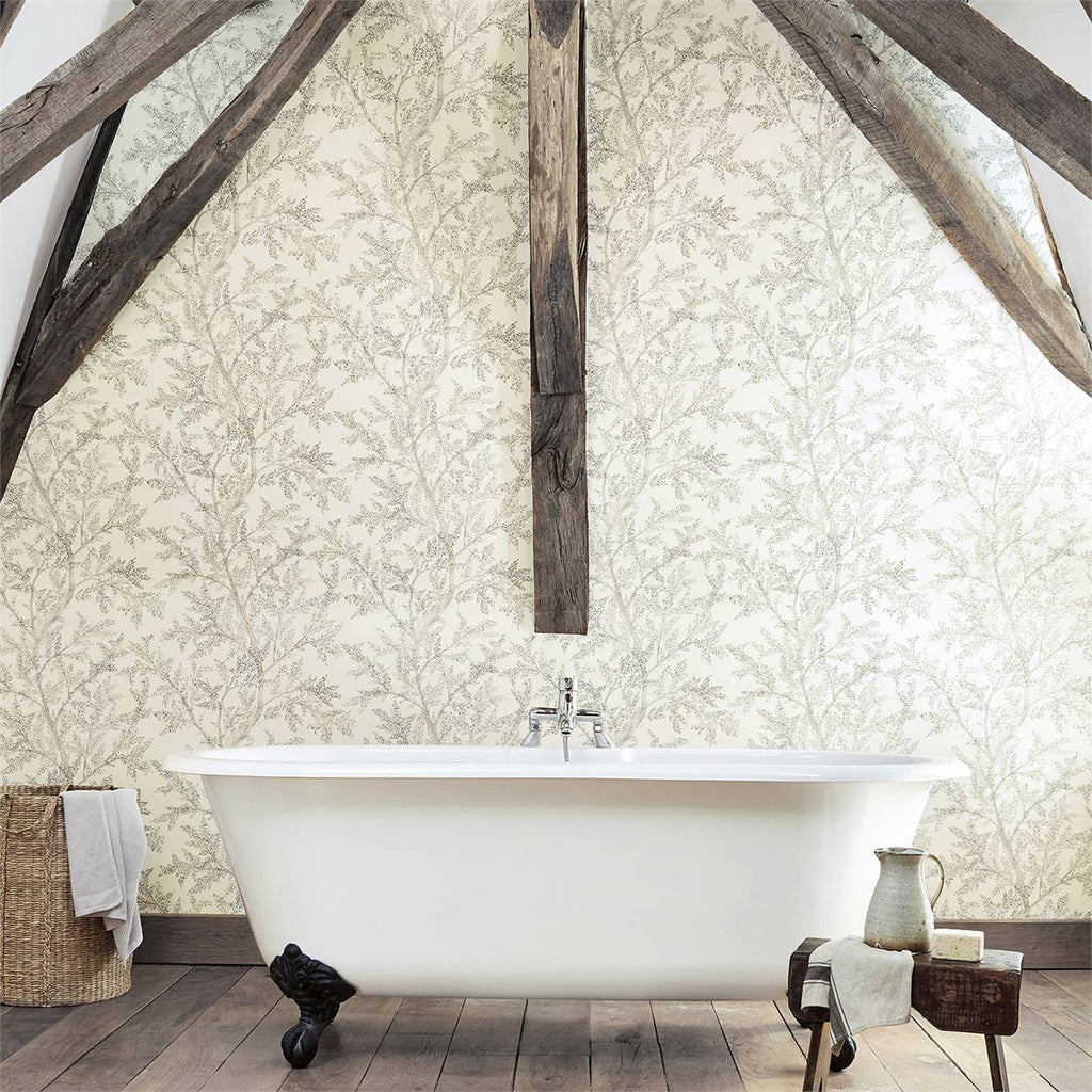 Farthing Woods Wallpaper by Sanderson 216612