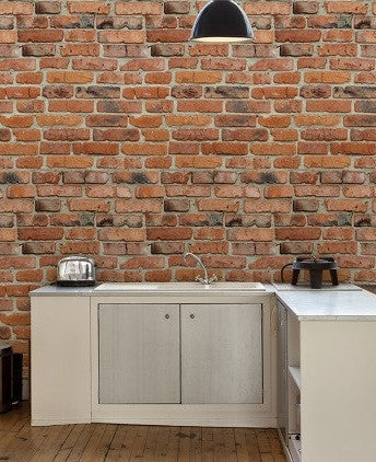 Camden Factory Brick Wallpaper
