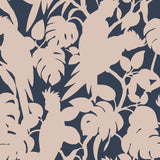 Florence Broadhurst Cockatoos Wallpaper Blush Matte White