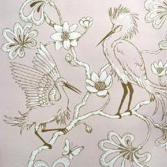 Florence Broadhurst  Brooklyn Brownstone Wallpaper Egrets BB07