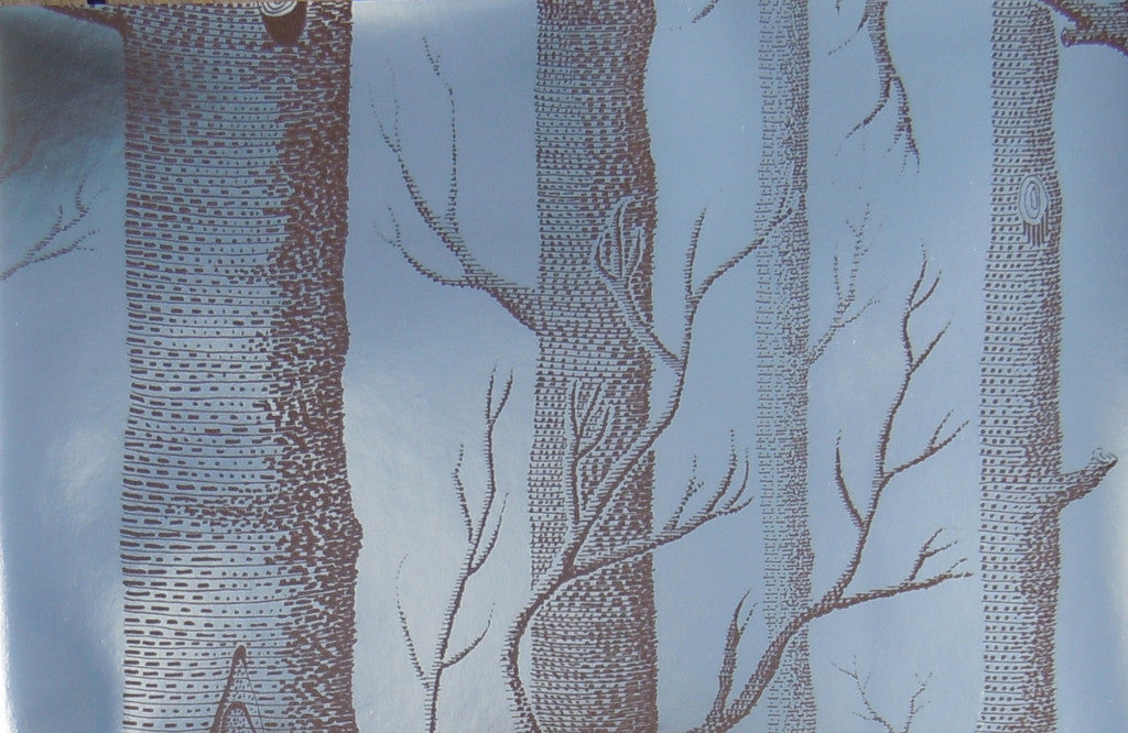 Cole & Son 'Woods' Wallpaper. Brown trees on silver background 69/12150