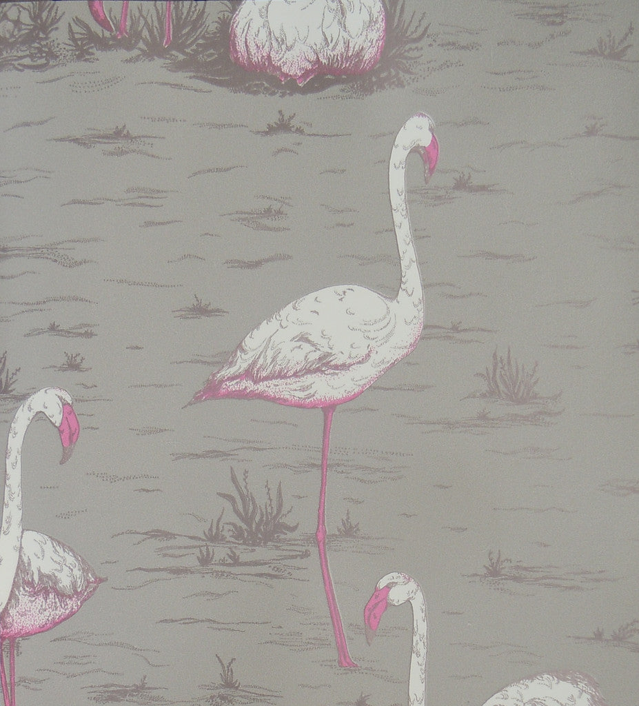 Cole & Son Flamingos Wallpaper 66/6042 from the New Contemporary Two Collection.