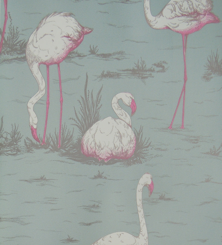 Cole & Son Flamingos Wallpaper 66/6044 from the New Contemporary Collection