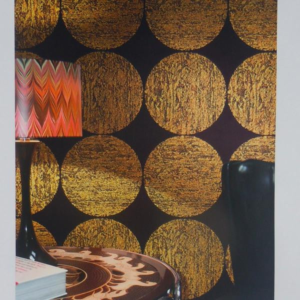 Cole & Son Luna Wallpaper 69/5119 black & gold.