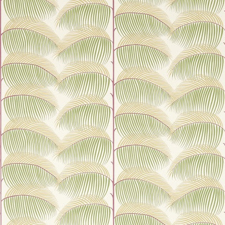 Sanderson Wallpaper, Manila in Mulberry/Sand DVOY213370