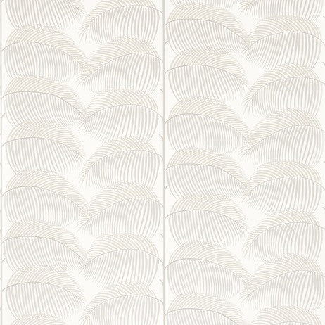 Sanderson Wallpaper, Manila in Ivory/Silver
