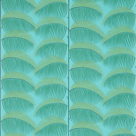 Sanderson Wallpaper, Manila in Turquoise/green