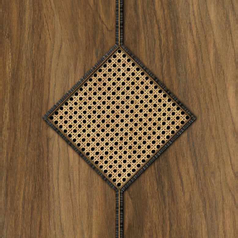 Diamond Webbing Wallpaper in Oak MRV15