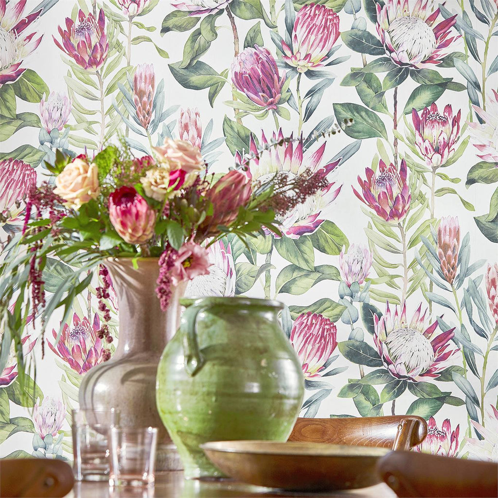 King Protea Floral Wallpaper 216646