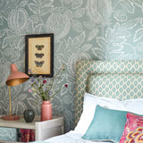 Cantaloupe Wallpaper in English Blue. Sanderson Wallpaper Australia