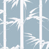 Florence Broadhurst Wallpaper Bamboo HawaiiBlue Mountains Matte White