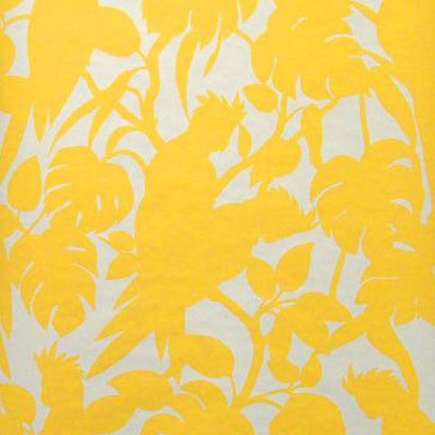 Florence Broadhurst Wallpaper | Cockatoos | Soot Matt White