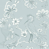 Florence Broadhurst Wallpaper | Egrets Frost Pearl