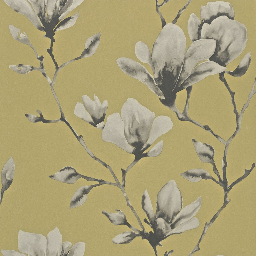 Lotus Wallpaper from Harlequin 110879 in Mustard