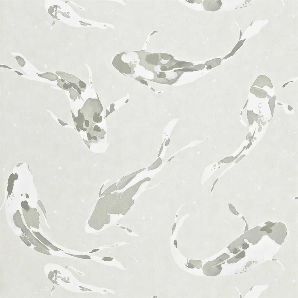 Harlequin Wallpaper Koi 110899 in Moonstone | Fish