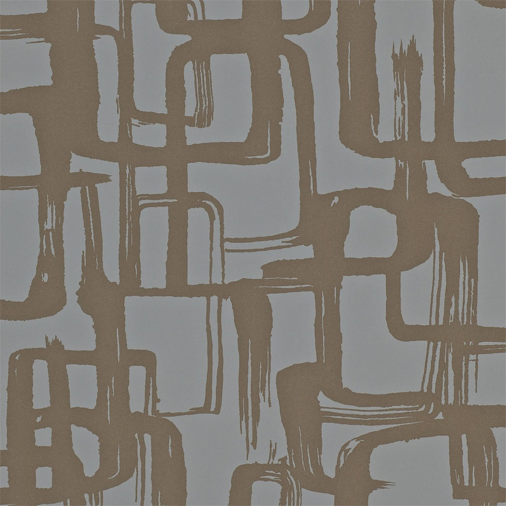 Harlequin Wallpaper | Asuka 110908 Bronze Graphite