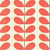 Orla Kiely Wallpaper Australia Classic Stem 110389 Cool Retro Wallpaper in red & white