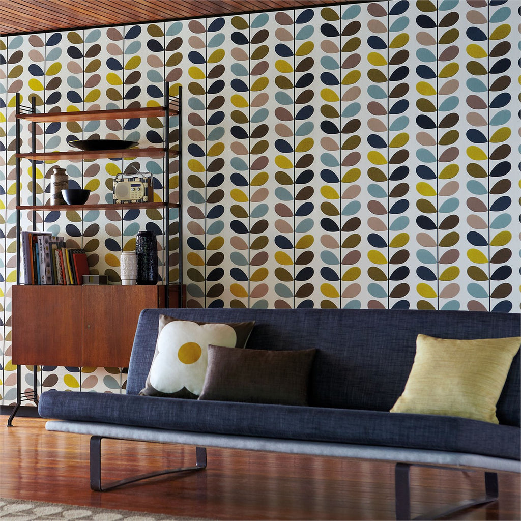 orla kiely wallpaper multi stem 110385 australia removable removable wallpaper australia. Black Bedroom Furniture Sets. Home Design Ideas