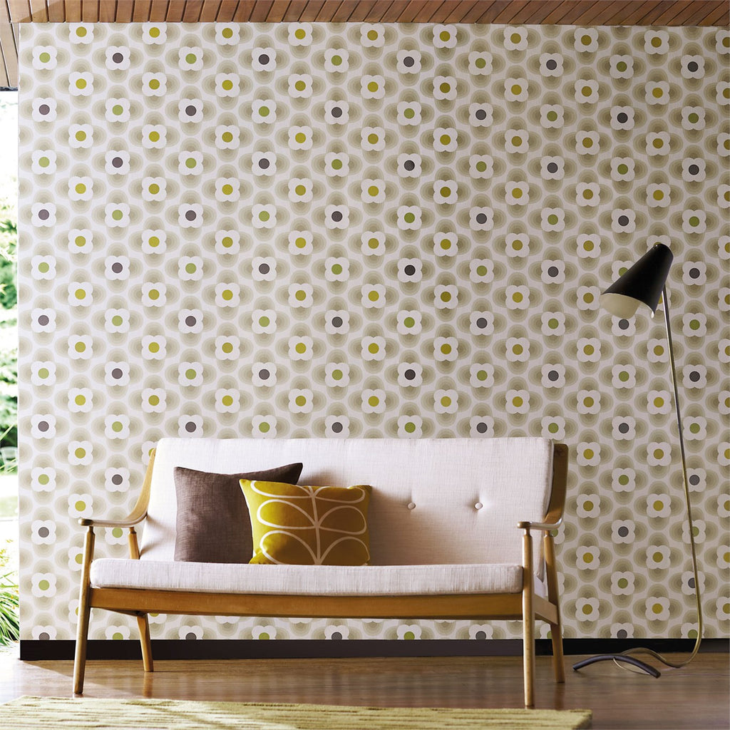 Orla Kiely Multi Striped Petal Wallpaper