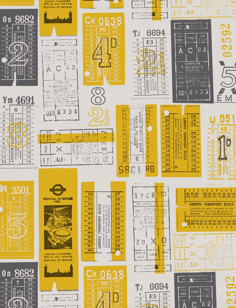 Mini Moderns Wallpaper Hold Tight in Mustard