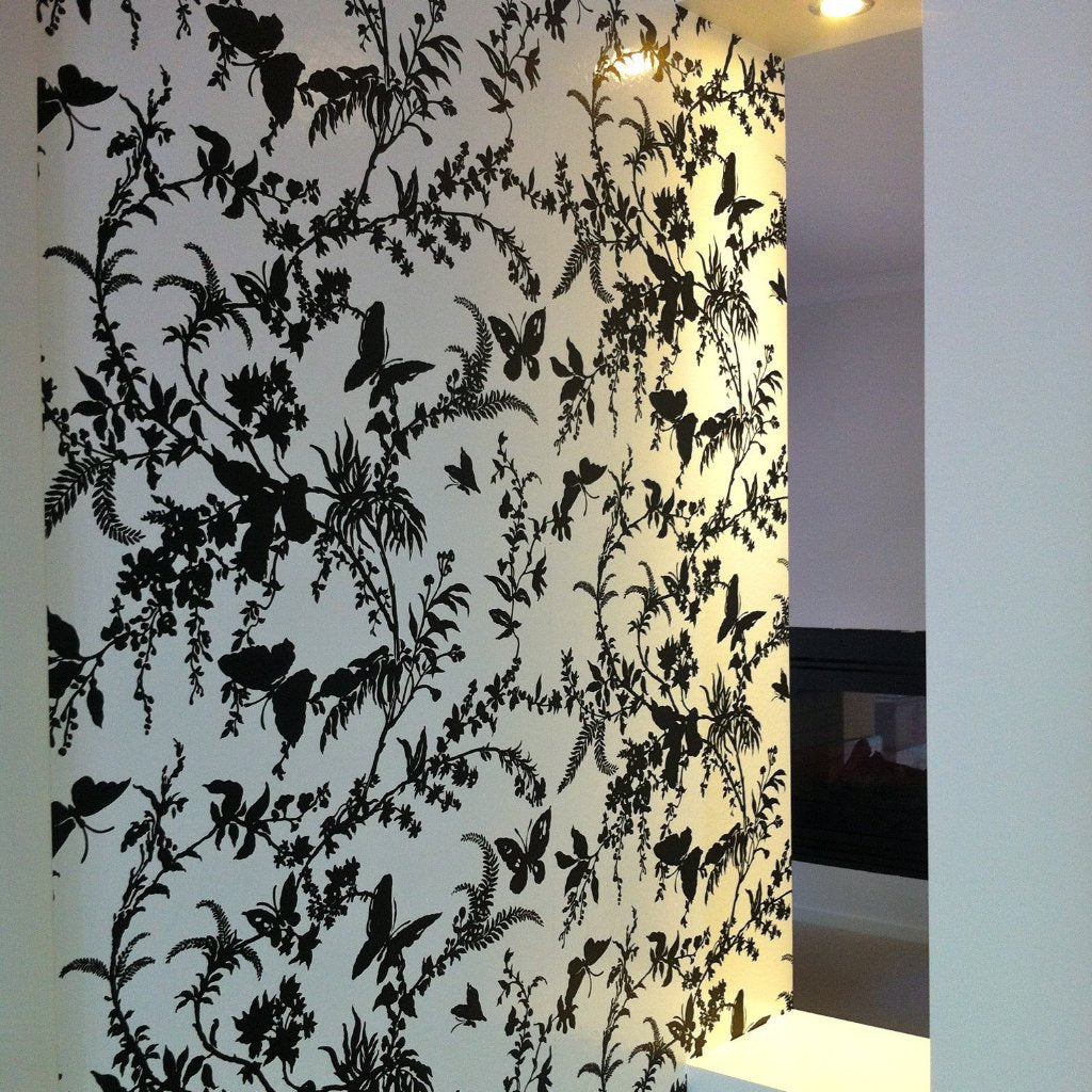 Florence Broadhurst Wallpaper: Tropical Floral FBW-FL18. Hung by Cutting Edge Wallpapering, Melbourne's professional installers