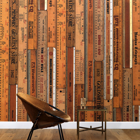 NLXL LAB Wallpaper | Printed Rulers (small) by Mr & Mrs Vintage