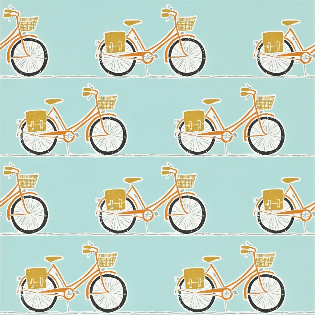 Scion Wallpaper Australia | Cykel 111100 in Tangerine/Sulphur/Coal