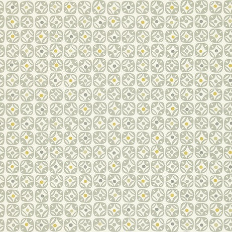 Miro 110234 wallpaper Steel, Chalk and Mustard by Scion. From their Melinki Collection