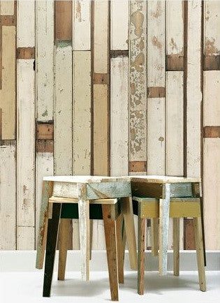 Scrapwood Wallpaper: Piet Hein Eek PHE-01 at removable wallpaper