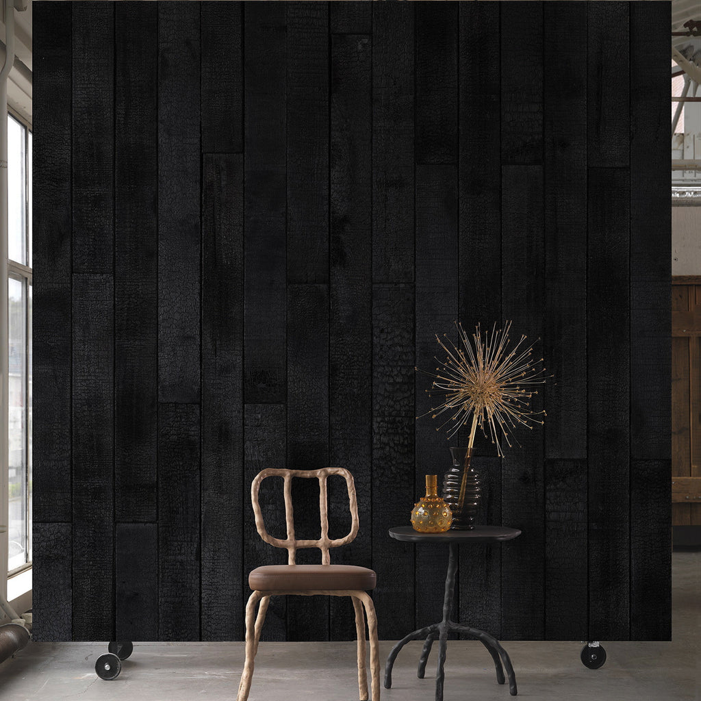 Martin Baas Burnt Wood Wallpaper | NLXL in Australia